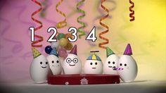 6 αυγά σε γενέθλια! Compter avec les oeufs : 6 oeufs