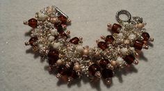 Beaded Charm Bracelet  TEA TIME  Amber Gold by uniquelyyours2010, $38.50