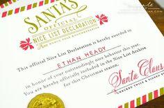 Santa's Official Nice List Declaration