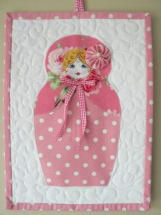 Matryoshka Mini Quilt wall hanging