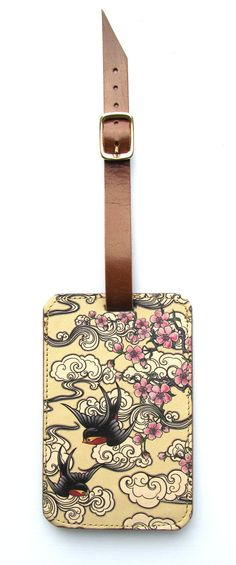 Luggage Tag Summer Lemons PU Leather Suitcase Labels Travel Accessories