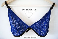 Wardrobe Recycle: Valentines' Special: DIY Bralette Valentine Special, Valentines, Diy Bralette, Lingerie Patterns, Refashion, Diy Clothes, String Bikinis, Sewing, Diys