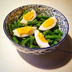 Vrij!gevig: Sperziebonen salade met ei