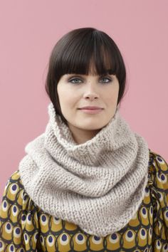 Free Knitting Pattern Briarcliff Cowl... For after I learn how to knit.