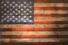 Here is a lovely, rustic looking image of old glory printed on solid fir planks that gives a sense of the age and history that this flag represents. - Artist: Empire Art Direct - Title: American Dream