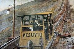 The funicular on Mount Vesuvius - this funicular Ronald Curtis composed the famous song Funiculi Funicula ...