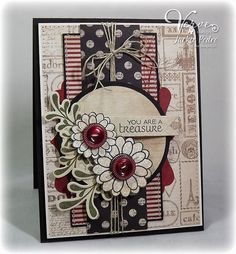 beautiful handmade card  by Jackie Pedro, Verve.