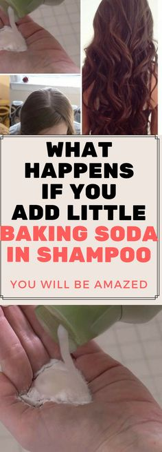 WHAT HAPPENS IF YOU ADD LITTLE BAKING SODA IN SHAMPOO, YOU WILL BE AMAZED.,.!