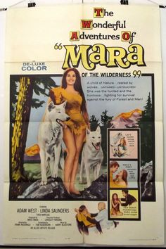 MARA OF THE WILDERNESS - LORI SAUNDERS - ORIGINAL AMERICAN 1SHT MOVIE POSTER
