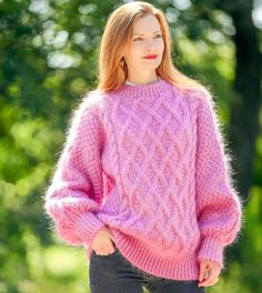 Mohair Yarn, Mohair Sweater, Cable Knit Sweaters, Icelandic Sweaters, Shawls And Wraps, S Models, Hand Warmers, Summer Collection, Hand Knitting