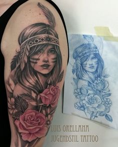Indian girl Tattoo by mojoncio on DeviantArt