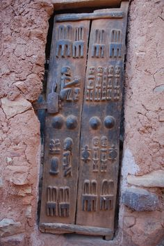 Africa | Dogon Window shutters.  Mali |  © Chris Greenwood