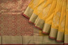 Shivangi Kasliwaal Handwoven Banarasi Tussar Silk Sari