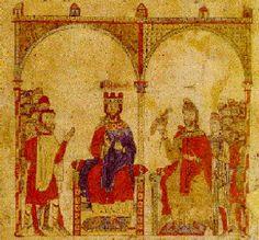 Frederick II, the one eyed Von Hohenstaufen Friedrich Ii Staufer, Medieval Life, Empire, Kaiser, Art Boards, Vintage World Maps, Miniatures, History, Painting