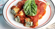 Vegan Spinach & Ricotta Cannelloni -fresh spinach and basil mixed with easy to whip up dairy-free ricotta, stuffed into cannelloni pasta, and coated in...
