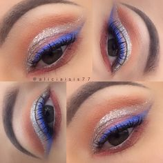 #eotd  Another look at today's eyes.  Product Details:  Brows: @anastasiabeverlyhills Dipbrow Pomade in Dark Brown  Eyes: @morphebrushes 35O palette  @lorealmakeup Liquid Diamond 24hr Infallible shadow  @milanicosmetics Bella Rouge shadow  @nyxcosmetics Silver Liquid Crystal Silk Liner & Milk Jumbo pencil  @wetnwildbeauty Voltage Blue Megaliner by aliciaisis77