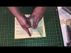 NEW easy to follow Book fold pattern tutorial...... flower bouquet - YouTube