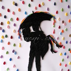 Ayani art: Quilled rain of colors 20/30 cm