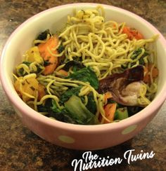 Copycat Ramen Noodles | Light & Healthy- Only 71 Calories, 6 g Fiber | Vegan Japanese Noodles with Veggies - Pick your own Flavor | For MORE RECIPES please SIGN UP for our FREE NEWSLETTER www.NutritionTwins.com