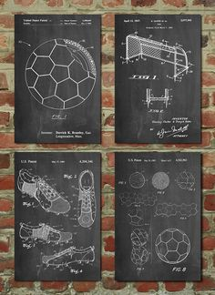 Soccer Patent Posters Group of 4, Soccer Gifts, Sports Decor, Soccer Mom, Soccer Wall Art, PP1188 by PatentPrints on Etsy https://www.etsy.com/il-en/listing/226108043/soccer-patent-posters-group-of-4-soccer