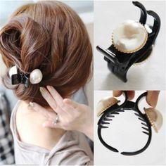 新しいヘアアクセサリー用女性素敵な真珠のヘア爪scrunchies美しいクリスタルヘアクリップ帽子ヘアバンド女の子