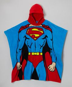Take a look at this Blue Superman Costume Chest Hooded Poncho by Superman on #zulily today!