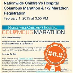 """shanawonderly: """"Just registered for my 2nd marathon at Columbus! Heading from Pittsburgh, PA! #CMnation #columbusmarathon #marathon #numba2"""" Pittsburgh, PA"""