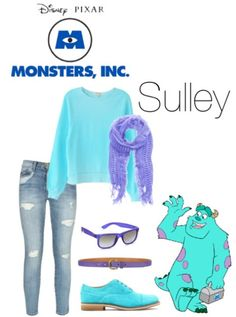 Monsters inc like everything but the shoes. Maybe some vans those colors
