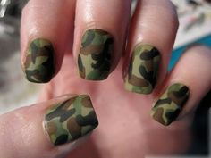 Maybe good for Halloween .....camo nails
