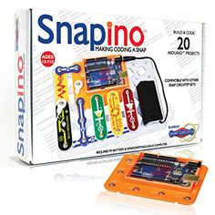 Snap Circuits SC-SNAPINO Making Coding a Snap Arduino Compatible Microcontroller