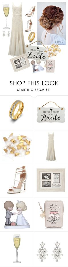"""""""Wedding Day"""" by heidibartholdy on Polyvore featuring New View, Phase Eight, Carvela, Precious Moments, Kate Spade and Oscar de la Renta"""