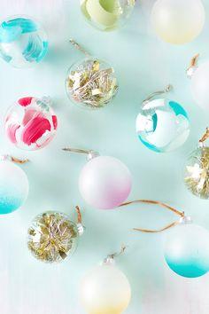 Super Simple Last Minute Ornament DIYs (They're Pretty Too!)