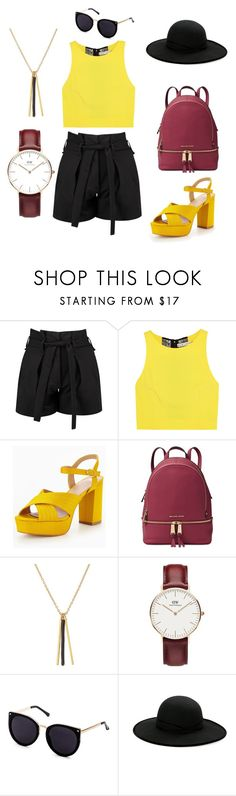 """""""Summer outfit"""" by emese-vincze on Polyvore featuring Boohoo, Alice + Olivia, Michael Kors, Isabel Marant, Daniel Wellington, Betmar and summerstyle"""