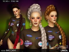 Sims 4 CC's - The Best: ANACONDA Hair by JAKEASims