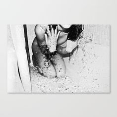 Rain+Water+Canvas+Print+by+Reni+Candelier+-+$85.00