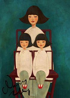 Illustration by Nancy.Z(via The Sea of Fertility.: A family.)
