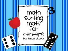 1 - 10 Math Sorting Mats - Sorting cards and mats that help students practice different methods of counting.