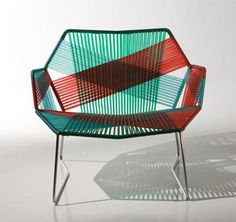 Patricia Urquiola has introduced yet another seating series concept! We only recently looked at her Canasta collection for B&B Italia and the new collection, Tropicalia, comes from Moroso. Woven seats and backs on a steel frame is the basic idea — but Urquiola pushes the design with a range of materials and unique woven patterns. Brightly-colored thermoplastic polymer (our favorite, above) make the chair suitable for outdoor use while you'll want to keep the woven leather versions indoors...