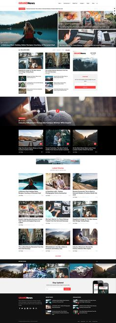 News & Editorial Website Layout. WordPress Theme. Lifestyle, General or Travel Design. Magazine Website Design Layout. WordPress Online Template Inspiration. General News, Fashion News, Women Health, Men Health, Style or Gossip News.