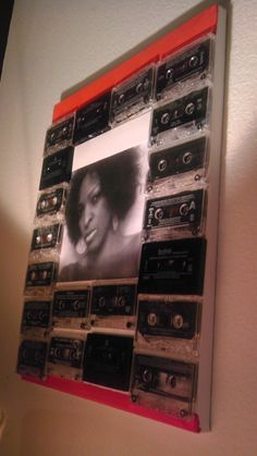 DIY Cassette tape collage. Recycling @ its best!!