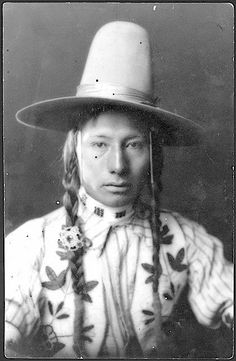 Big Knife. Chippewa/Cree. Rocky Boy Reservation. Montana. 1901 - Old Hopes & Boots