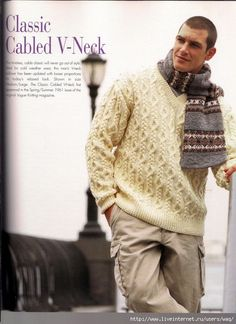 Vogue Knitting Vintage Collection Classic Knits from the Mens Knit Sweater, Sweater Hat, Cable Knitting, Vogue Knitting, Knit Fashion, Mens Fashion, Holiday Sweater, Knit Art, Knitting Designs