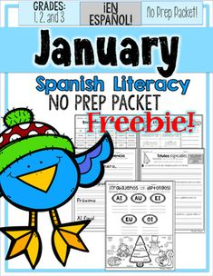 This product includes mystery pages from the January Literacy No Prep Packet.  If you would like to buy the complete unit you can find it under No Prep Packets on my store!Que lo disfruten!