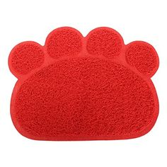Pet Dog Puppy PVC Cat Dish Bowl Feeding Food Placemat Mat Wipe Clean Red ** Check out the image by visiting the link.