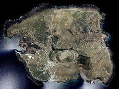 Isola di Linosa, la perla nera delle Pelagie, Italy - vista satellitare