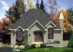 European House Plan 48123 Elevation
