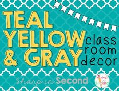Included is over 90 pages of printables and editable files for you to customize your teal, yellow, and gray classroom!  This download includes a .zip file. You will need PowerPoint to open the editable files. Included in the download:Printable PDF Files -Alphabet -Passes -Bunting -Calendar Set (Months, Days of the Week) -Center Signs -Classroom Rules -Clock Minutes -How We Get Home -Schedule Cards -Subject Labels -Supply Labels -Table Signs -Where We Are -Word Wall Set-Posters-Specials…