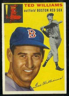 baseball cards | 1954 Topps #250 Ted Williams [#b] (Red Sox) Baseball cards value