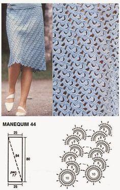 юбка крючком                                                                                                                                                                                 Mais