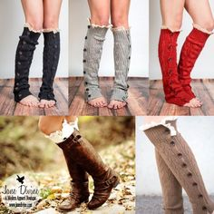 Fall Fashion, Fall Wardrobe Essentials, Buttons & Lace Leg Warmers by Jane Divine Boutique www.janedivine.com